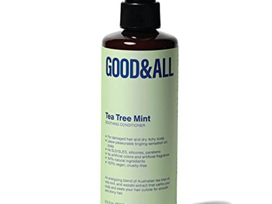 Tea Tree Conditioner for Dandruff Sulfate Free Scalp Treatment for Dry Itchy Scalp for Colored Damaged Dry or Oily Hair Natural Silicone Free for Men Women 85 fl oz GOODALL 0 540x405 c