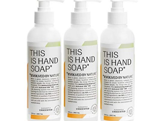 Unscented Hand Soap by Evolved By Nature 10oz 3 Pack Contains Only 12 Naturally Derived Ingredients Free of Allergens Irritants and SLS Cruelty Free Moisturizing Hand Wash 0 540x405 c