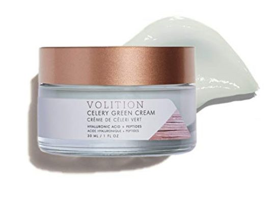 Volition Beauty Celery Green Cream with Hyaluronic Acid and Peptides Purifies Minimizes Pores and Controls Oil Vegan Paraben Free Cruelty Free 1oz 0 540x405 c