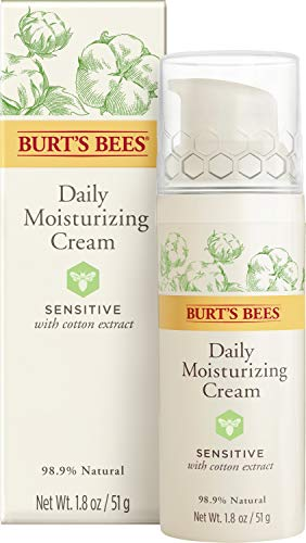 Burts Bees Daily Face Moisturizer Cream for Sensitive Skin 18 Oz Package May Vary 0