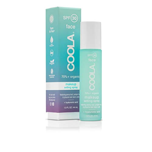 COOLA Makeup Setting Spray Skin Care Makeup Protection made with Organic Cucumber Aloe Vera Broad Spectrum SPF 30 Alcohol Free Reef Safe 15 Fl Oz 0