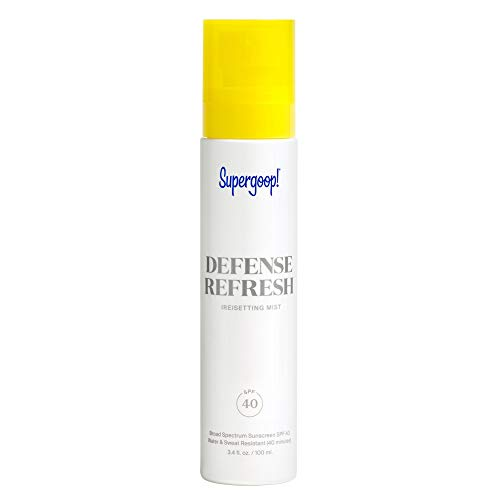 Supergoop Defense Refresh Resetting Mist SPF 40 34 fl oz Makeup Setting Spray Face Sunscreen for Sensitive Skin with Rosemary Peppermint Extract Light Refreshing Scent 0