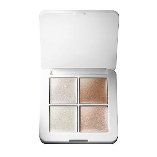 rms beauty luminizer x quad highlighter Creamy Light Reflective Organic 4 Shade Face Makeup Palette for Dewy Glowing Nourished Skin Luminizer X Luminizer Nude Champagne Rose Champagne Fizz 0