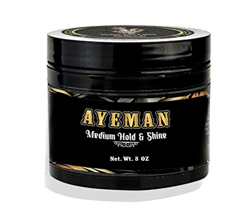 AYEMAN Hair Pomade for Men Medium Hold Shine and Water Based Pomade Hair Styling Products for All Types of Hairs Alcohol Gluten Free Hair Pomades Nourishing Botanical Mens Natural Pomade 0