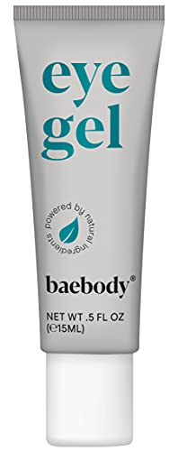 Baebody Eye Gel Travel Size for Under and Around Eyes to Smooth Fine Lines Brighten Dark Circles and De Puff Bags with Peptide Complex and Soothing Aloe 05 Fl Oz 0