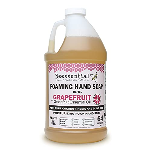 Beessential All Natural Foaming Hand Soap Refill Bulk 64 oz Made with Moisturizing Aloe Honey Made in the USA Grapefruit 0