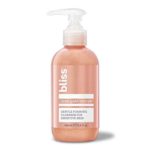 Bliss Rose Gold Rescue Cleanser Gentle Foaming Face Wash With Soothing Rose Flower Water Willow Bark for Sensitive Skin Clean Cruelty Free Paraben Free 64 oz 0