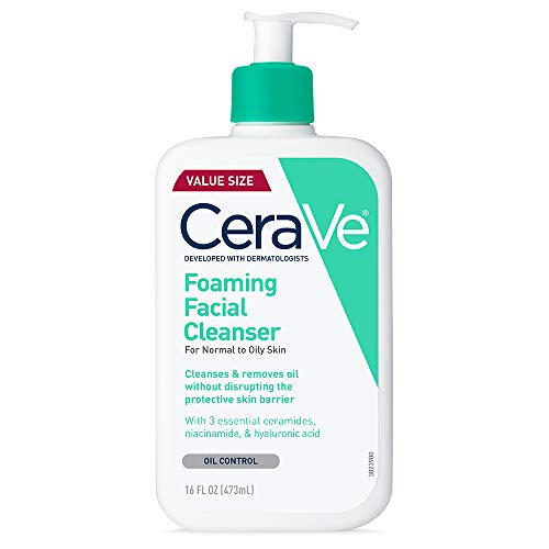 CeraVe Foaming Facial Cleanser Makeup Remover and Daily Face Wash for Oily Skin 16 Fluid Ounce 0