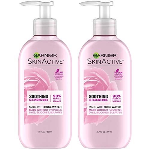 Garnier SkinActive Milk Face Wash with Rose Water 67 Fl Oz Pack of 2 Packaging May Vary 0
