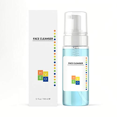 HE VO Face Cleanser Foaming Daily Facial Cleanser for All Skin Types Removes Dirt Makeup For Men and Women Sulfate Paraben Phthalate Free 5 fl oz 0