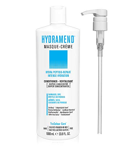 HYDRAMEND Masque Creme hydrating conditioner Intense Hydration Repair For Damaged Dry Brittle Porous Hair Vegan Sulfate Lactose Gluten Free with 1 Liter Pump 0