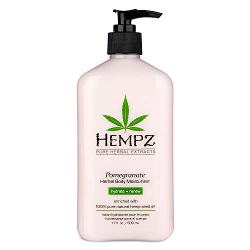 Hempz Pomegranate Herbal Body Moisturizer 17 oz Paraben Free Lotion and Moisturizing Cream for All Skin Types Anti Aging Hemp Skin Care Products for Women and Men Hydrating Gluten Free Lotions 0
