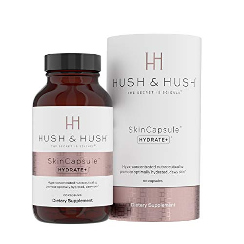 Hush Hush SkinCapsule HYDRATE Skin Care Beauty Supplement Promotes Anti Aging Glowing Skin with Hyaluronic Acid Cococin Ceramosides Vegan Non GMO Gluten Free 60 Capsules 0