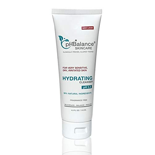 Hydrating Face Wash PH BALANCE SKINCARE Gel Cleanser Daily Facial Body Moisturizing Cleanser For Dry Acne Prone Sensitive Skin All Natural No Fragrance Cruelty Oil Paraben Free 4oz 0