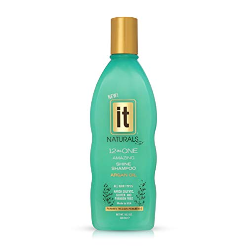 IT Naturals 12 in ONE Argan Oil Shine Shampoo 102oz Infused with B Vitamin Biotin Reduces Split Ends Fights Frizz Infused with Exotic Oils Non Stripping Sulfate Paraben Gluten Free 0