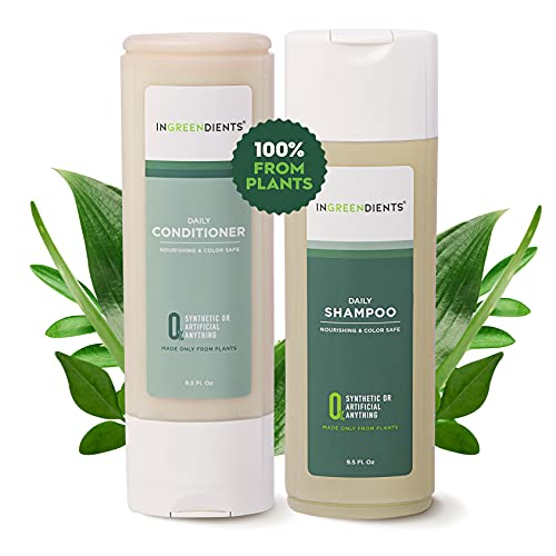Ingreendients Sulfate Free Apple Cider Vinegar And Tea Tree Shampoo and Conditioner Set Color Safe Natural Vegan Organic Ingredients Paraben Free Silicone Free Shea Butter 2 x 94 Fl Oz 0