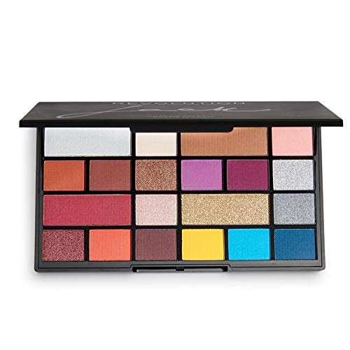 Makeup Revolution Eyeshadow Palette X Jack Eye shadow Palette 20 Shade Eyeshadow Palette Face Makeup Variety of Colors Compact Palette 0