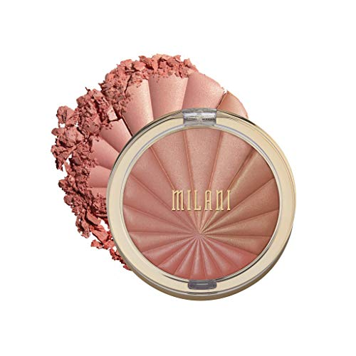 Milani Color Harmony Blush Palette Berry Rays 03 Ounce Vegan Cruelty Free Powder Blush Compact Shape Contour Highlight Face with 4 Matte Shades 0