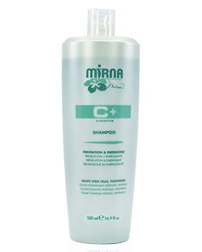 Mirna Professional Prevention Energizing Thinning Shampoo Infused with Grape stem cells Panthenol No Sulphate Gluten Free No Paraben and No SLS Unisex Item 500ml 169oz 0