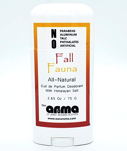Our Aroma Natural Deodorant for Women Men Hand Poured Aluminum Free Deodorant Gluten Free Cruelty Free Free of Parabens Fruity Fall Fauna Scent 0