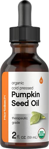 Pumpkin Seed Oil 2 oz Organic Cold Pressed 100 Pure Extra Virgin Vegetarian Non GMO Gluten Free Formula Great for Hair and Face by Carlyle 0
