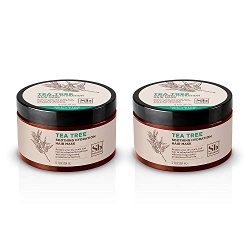 Soapbox Tea Tree Soothing Hydration Hair Mask Purifying and Hydrating with Tea Tree Oil and Shea Butter Paraben Sulfate Free Gluten Free Vegan 12 oz Pack of 2 0